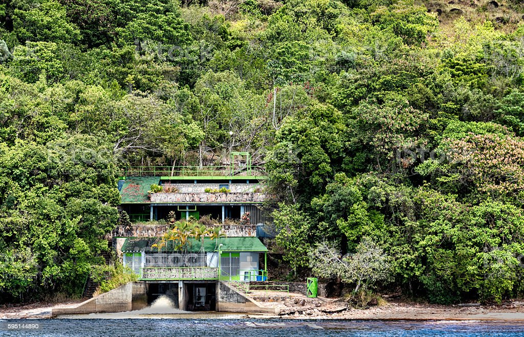 Hydroelectric small power plant in Canaima, Venezuela stock photo