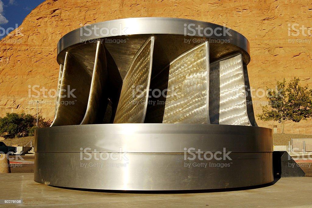 Hydroelectric Turbine stock photo