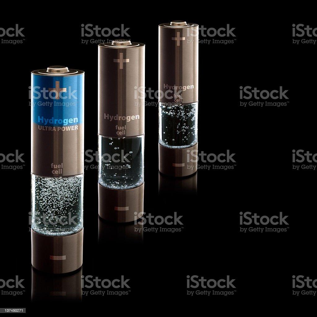 Hydrogen AA (R6) Batteries stock photo