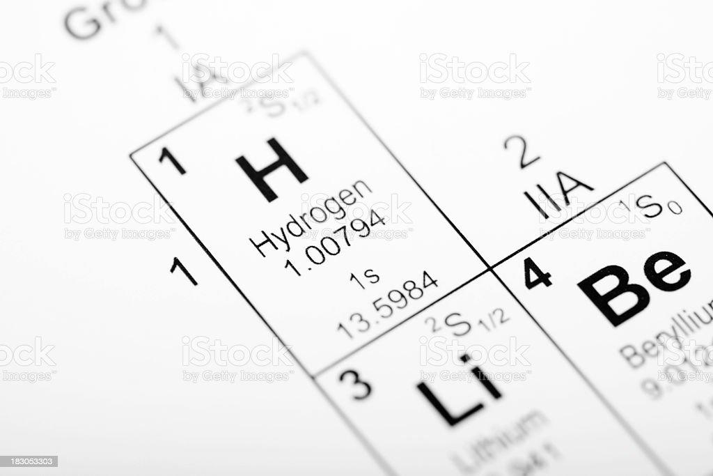 Hydrogen Element stock photo