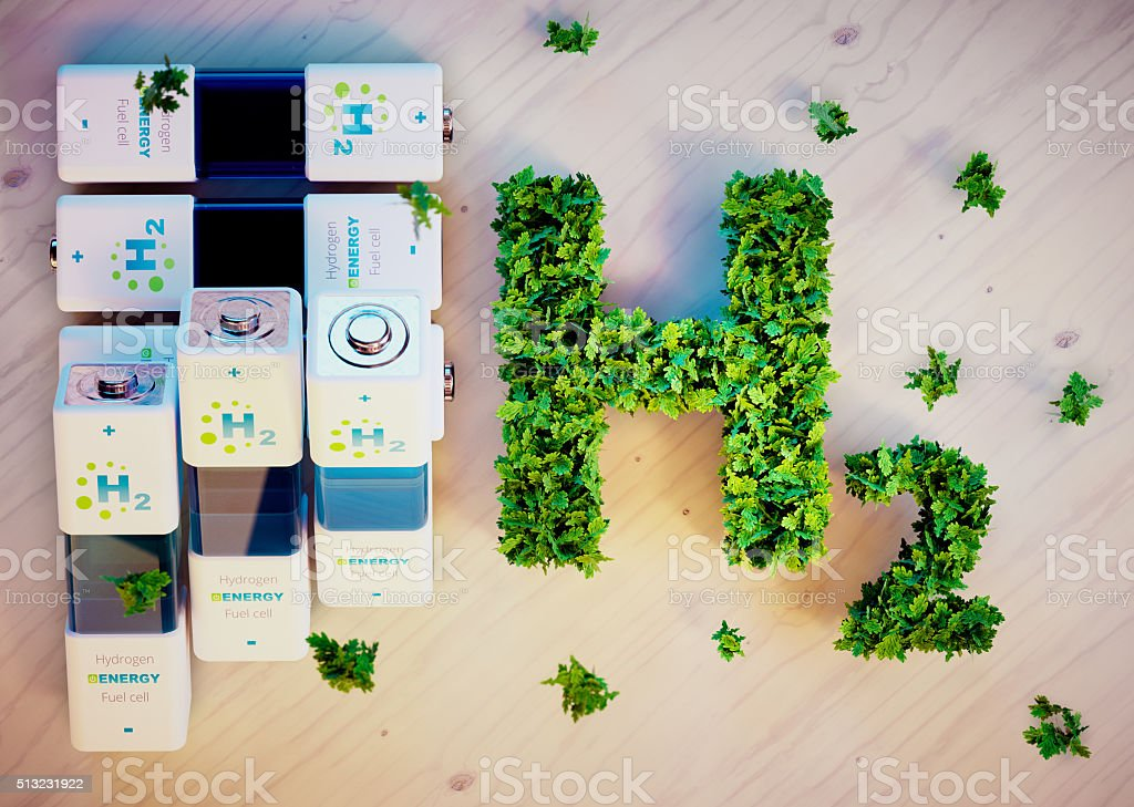 Hydrogen energy concept stock photo