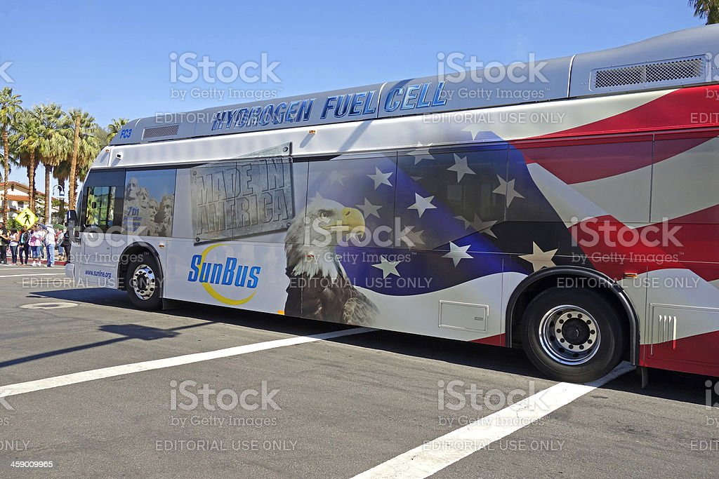 Hydrogen Fuel Cell Bus stock photo