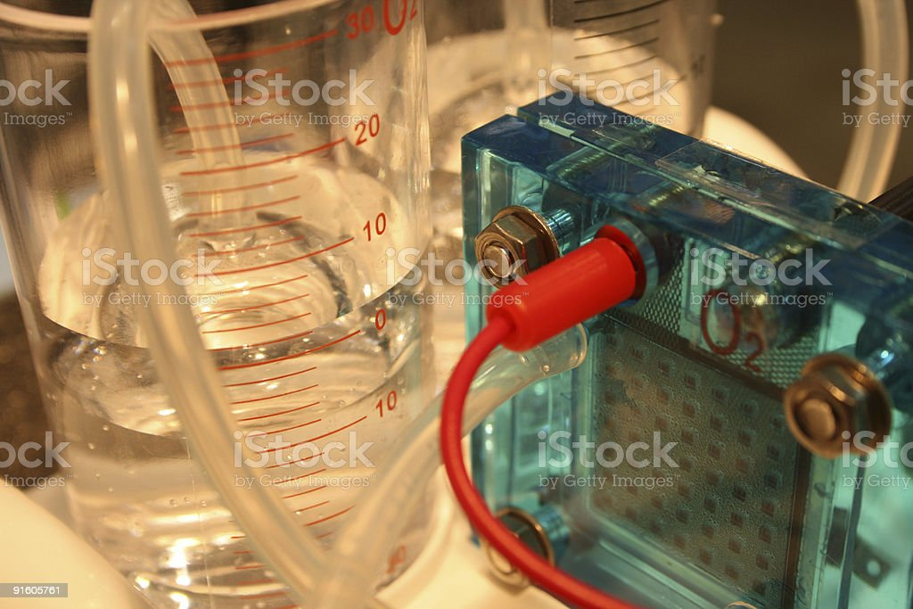 hydrogen fuel cell, Electrolysis concept royalty-free stock photo