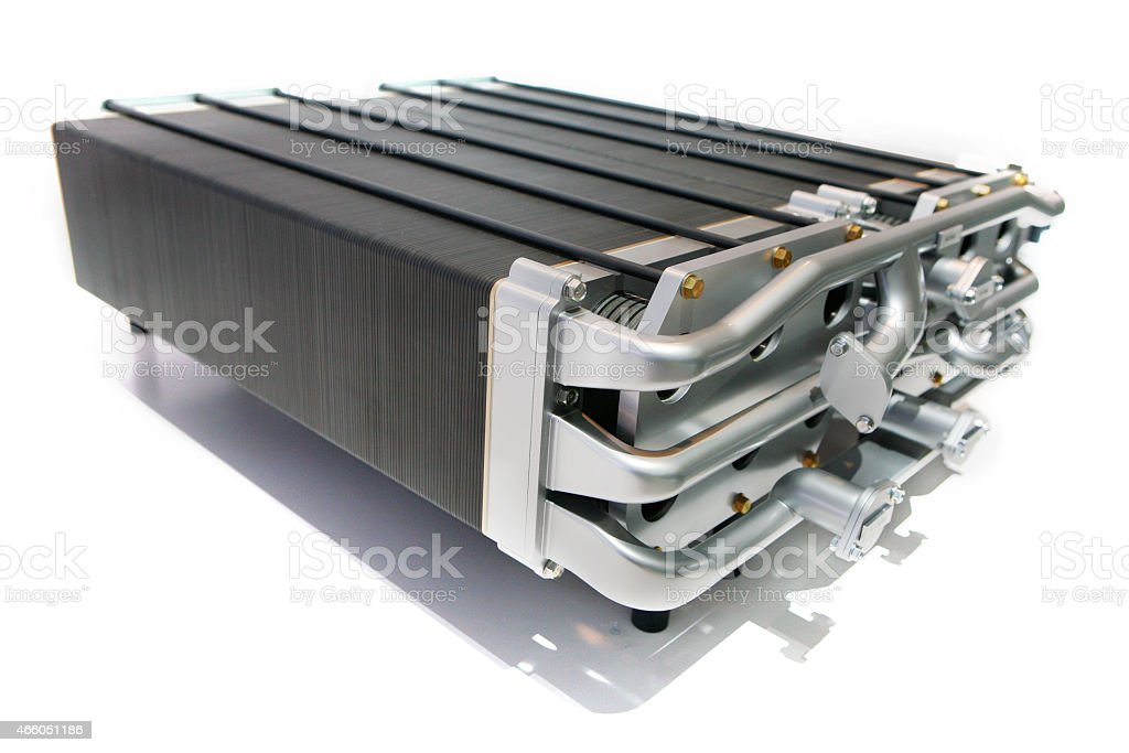 Hydrogen Fuel Cell for Alternative Fuel Vehicles stock photo