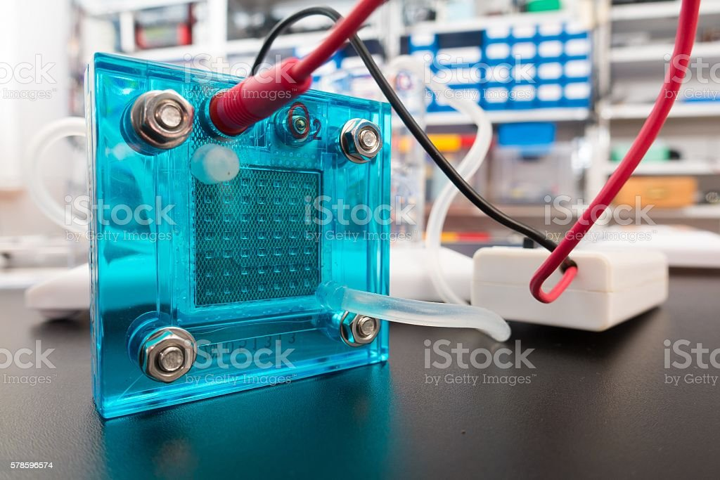 Hydrogen fuel cell, stock photo