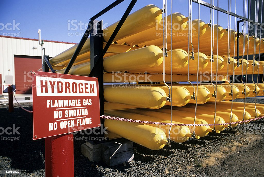 Hydrogen Gas Tanks stock photo