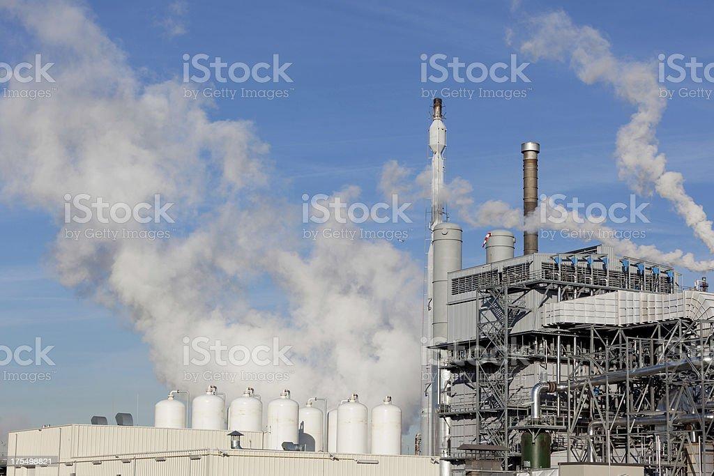 Hydrogen plant stock photo