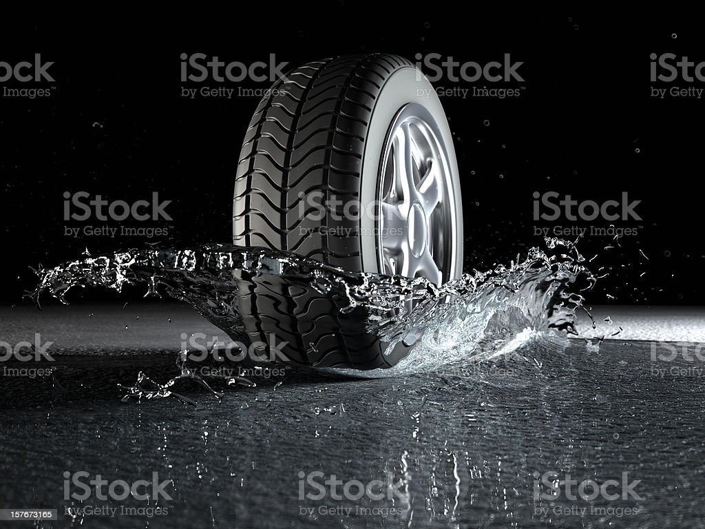 Hydroplaning (Aquaplaning) Concept stock photo
