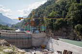 Hydropower plant construction site, Annapurna Region