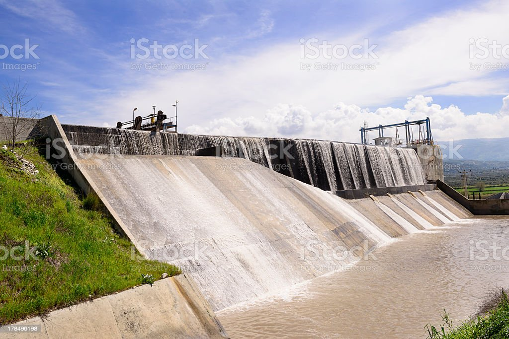 Hydropower plant royalty-free stock photo