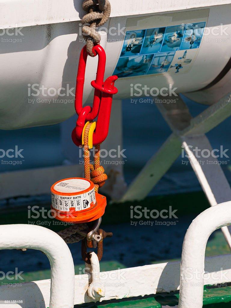 Hydrostatic release mechanism stock photo