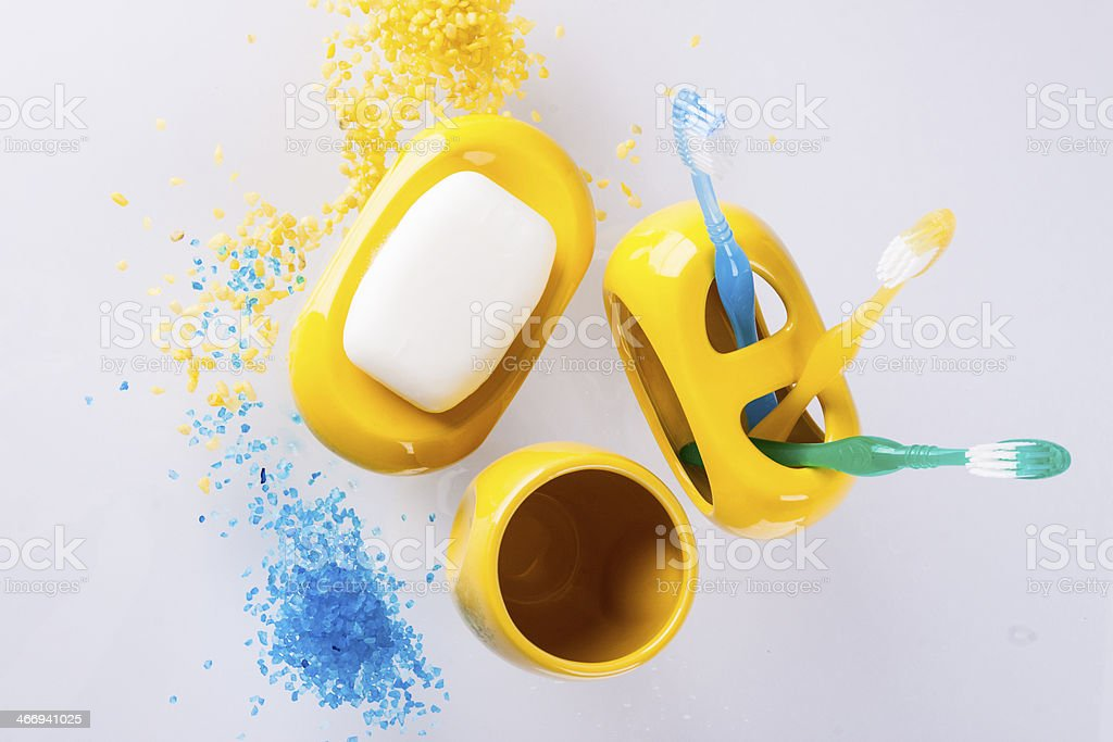 Hygiene accessory on white background. stock photo