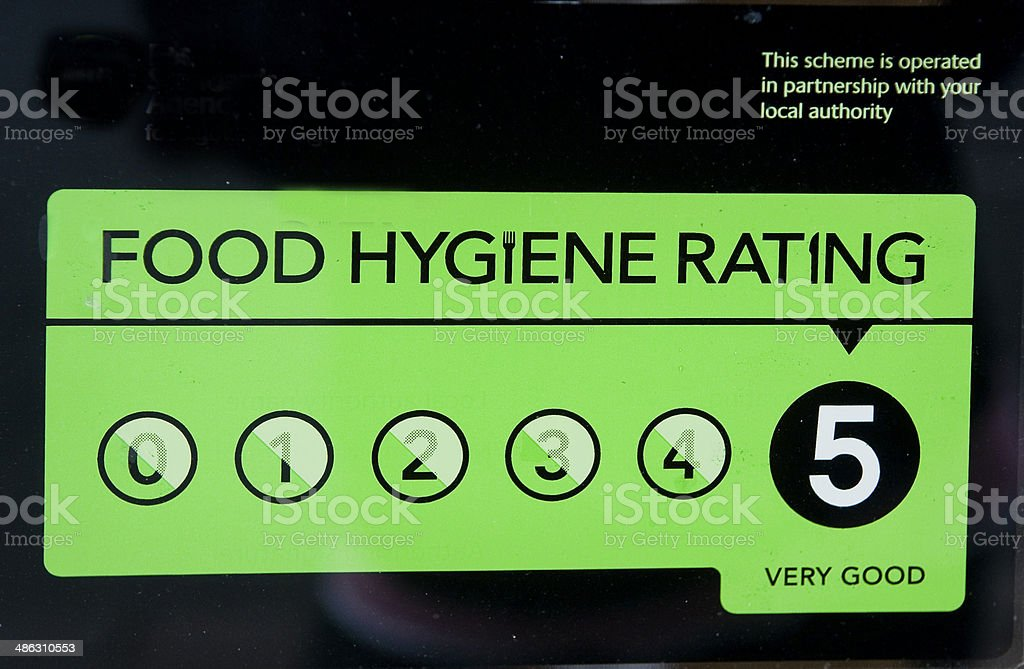 Hygiene Rating stock photo