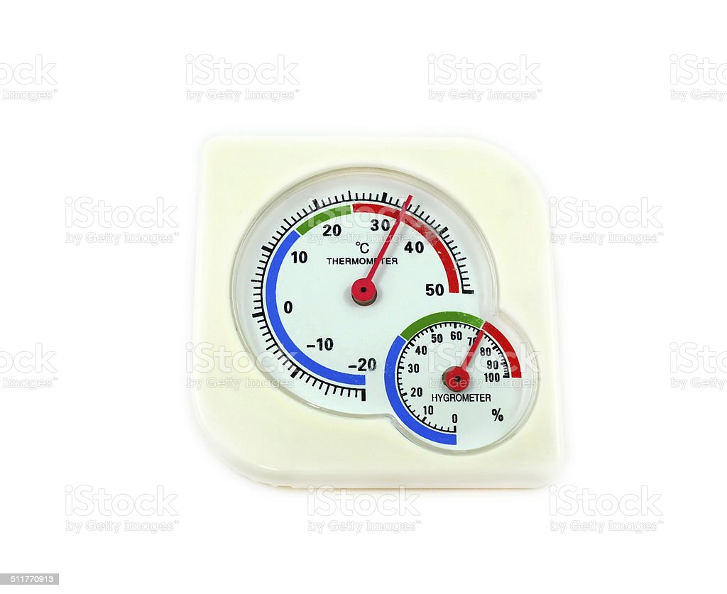Hygrometer and Thermometer stock photo