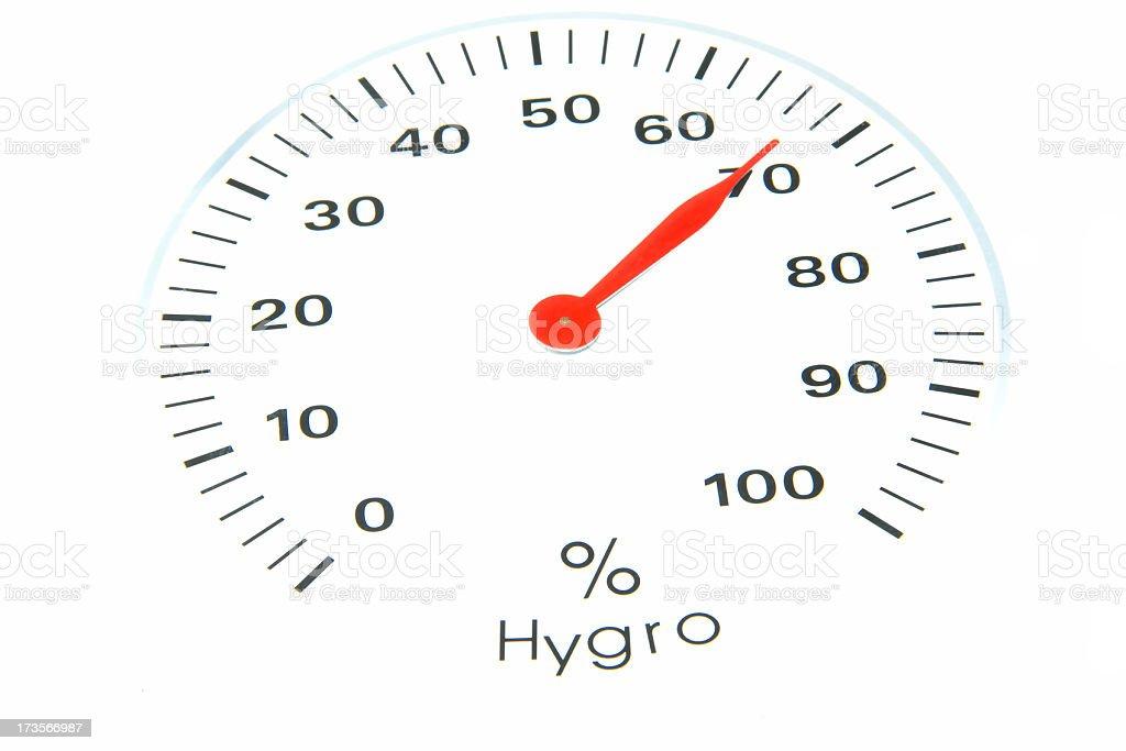 hygrometer on white royalty-free stock photo