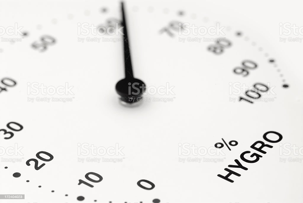 Hygrometer royalty-free stock photo