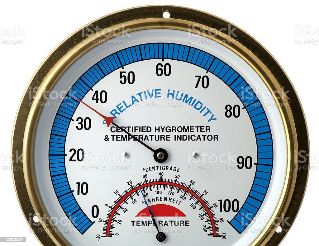 Hygrometer & Thermometer stock photo