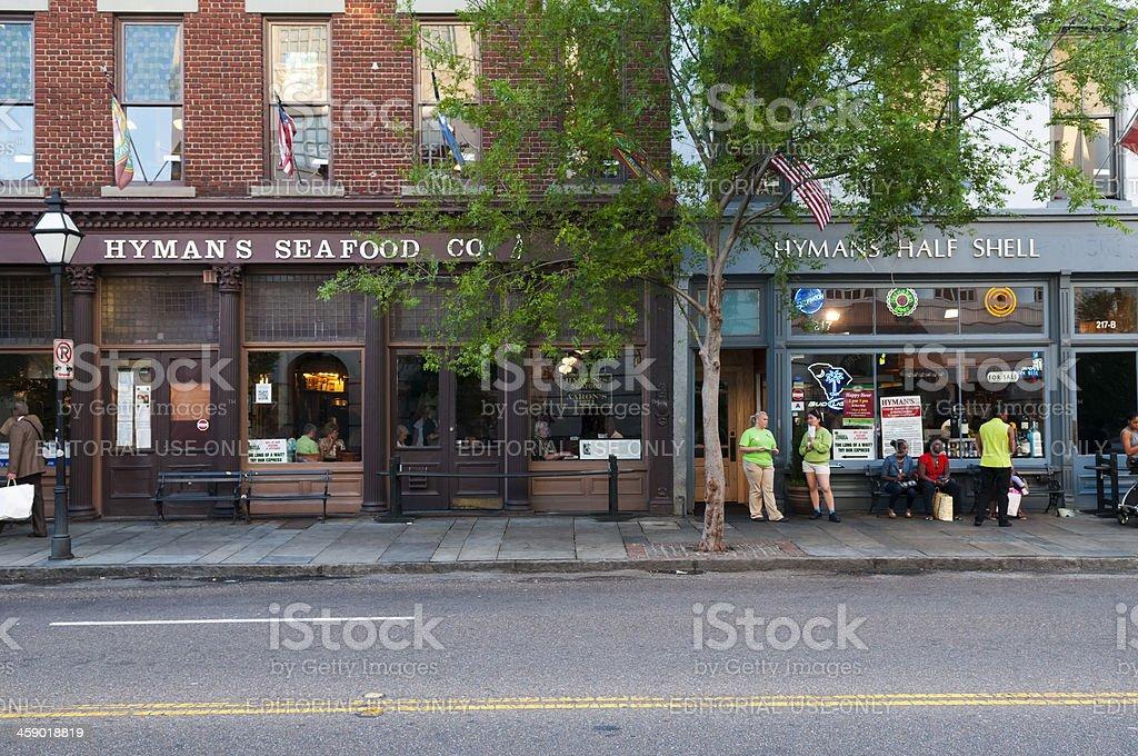 Hyman's Seafood restaurant in Charleston SC royalty-free stock photo