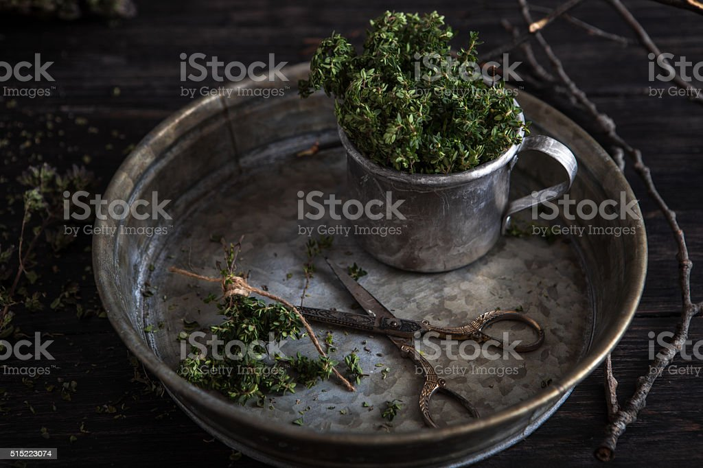 hyme in  rustic style stock photo