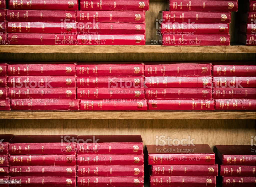 Hymn books - Hymns Ancient and Modern stock photo