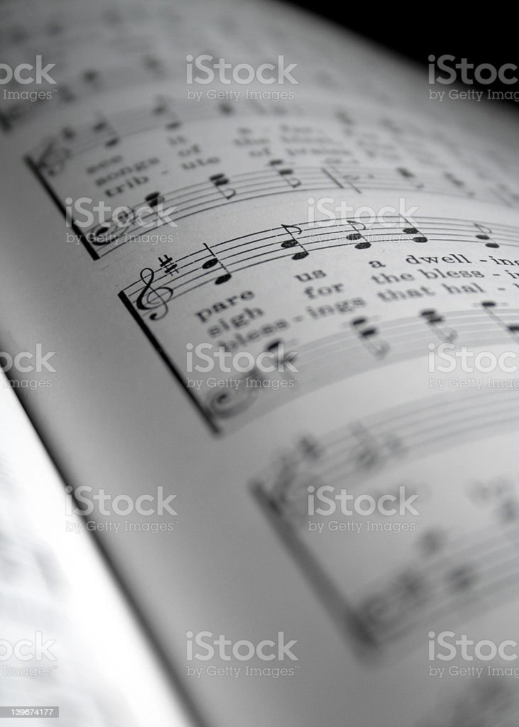 hymnal3 stock photo
