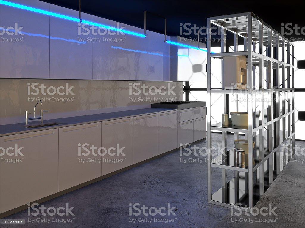 Hyper Modern Kitchen 2 royalty-free stock photo