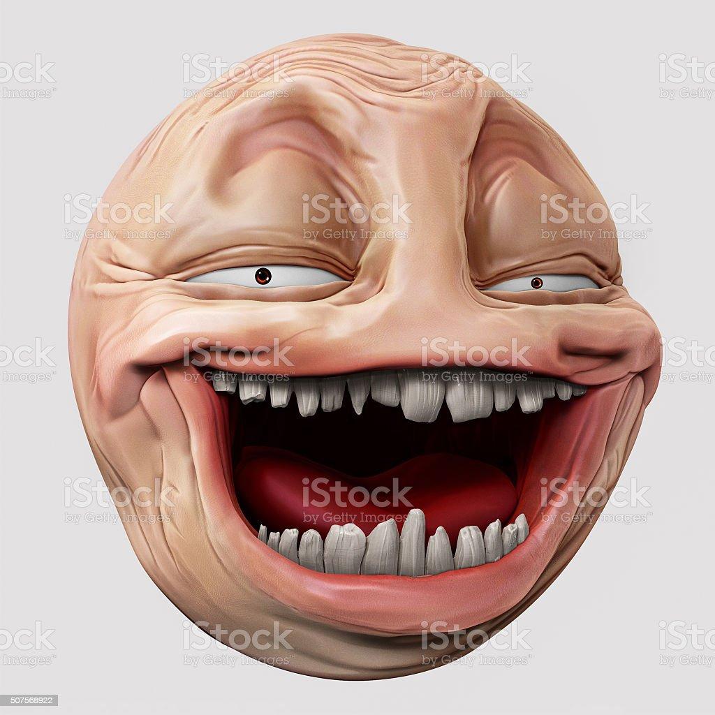 Hyper troll 3d illustration stock photo