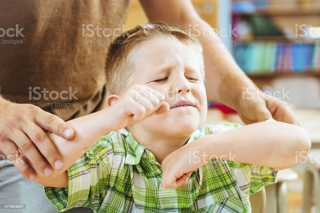 Hyperactive Child stock photo