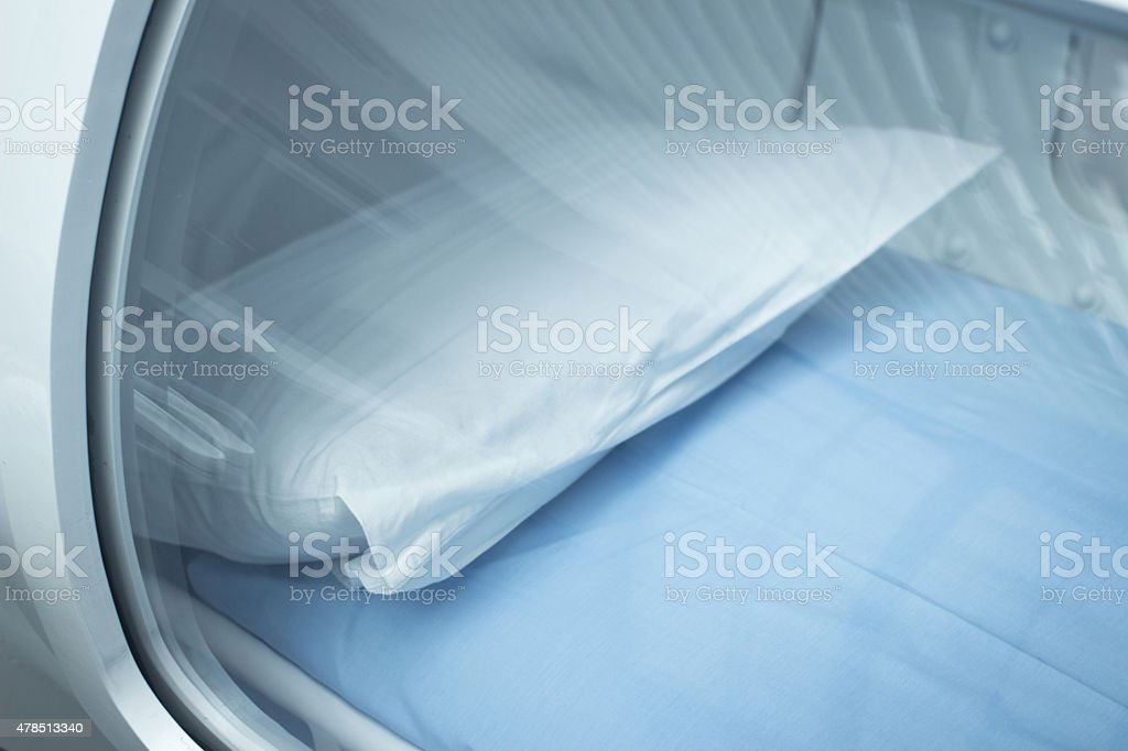 HBOT Hyperbaric Oxygen Therapy treatment chamber stock photo