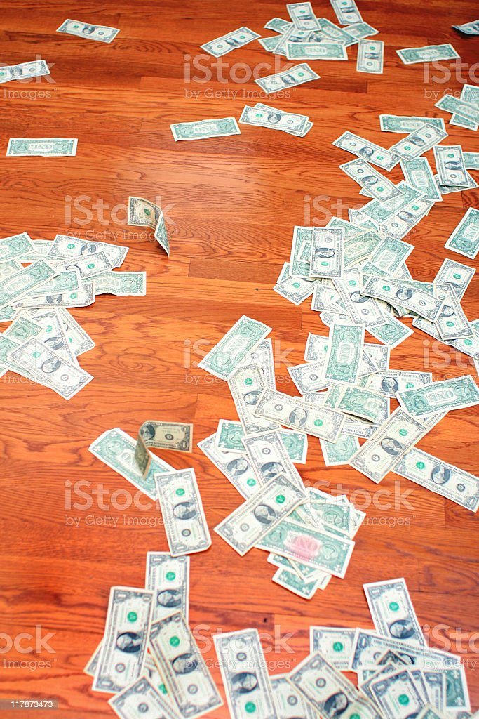 Hyperinflation in the U.S. - Trail of Money royalty-free stock photo