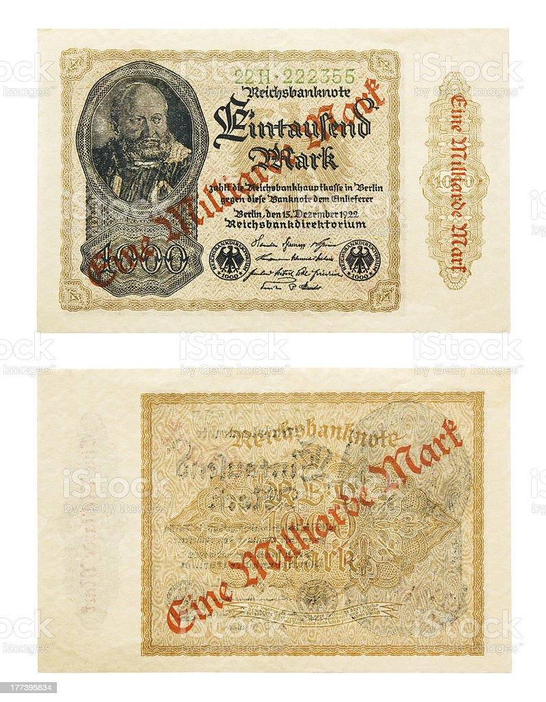 Hyperinflation stock photo
