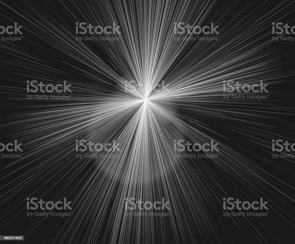 Hyperspace motion in black and white. Concept of interstellar travel or intergalactic travel. vector art illustration