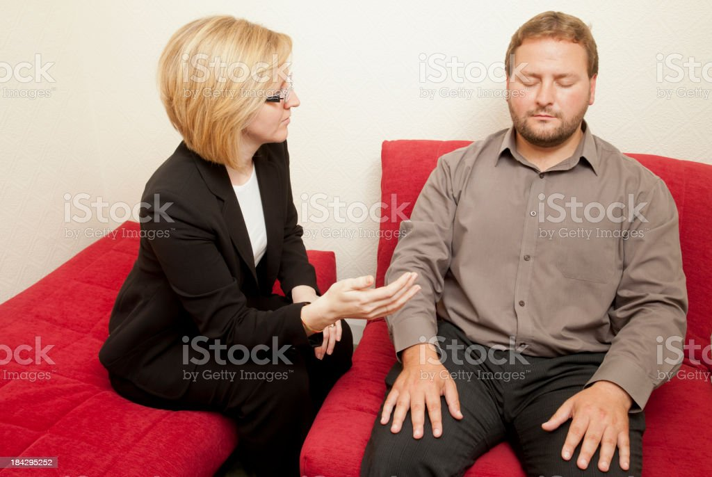 Hypnotherapy royalty-free stock photo