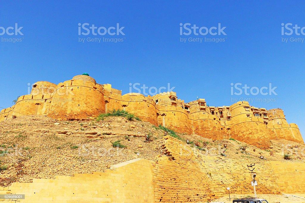 Hypnotic Jaisalmer golden fort ,rajasthan, india stock photo