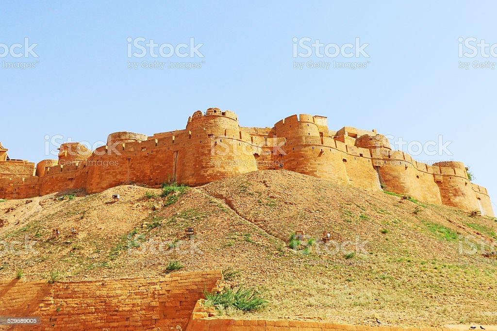 Hypnotic Jaisalmer golden fort,rajasthan, india stock photo