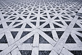 Hypnotic pattern in ancient Italian pavement