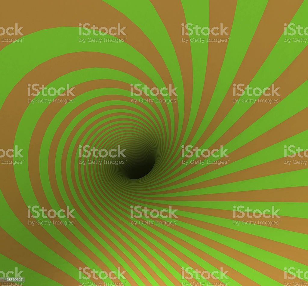 Hypnotic Spiral royalty-free stock photo