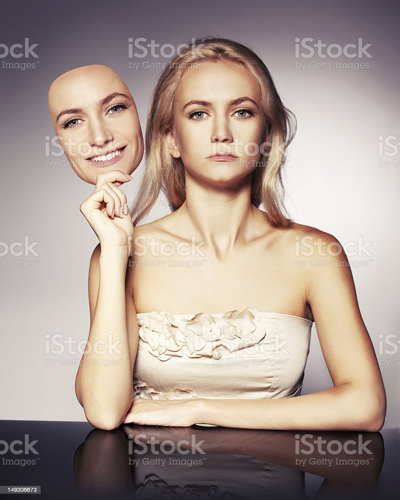 Hypocrisy stock photo