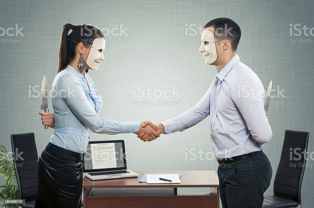 Hypocrisy-True Story stock photo