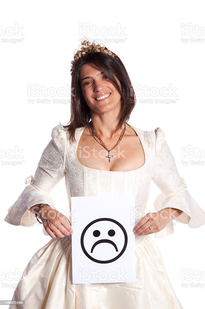 Hypocrite bride royalty-free stock photo