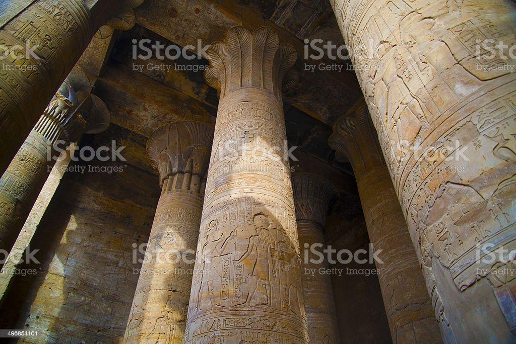 Hypostyle Hall, Edfu, Egypt stock photo