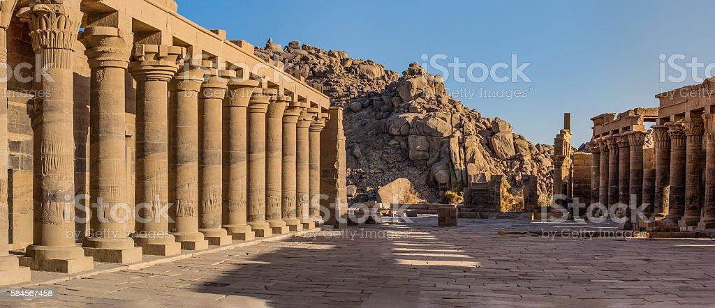 hypostylus temple Philae stock photo