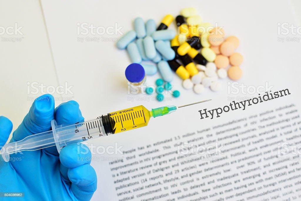 Hypothyroidism stock photo