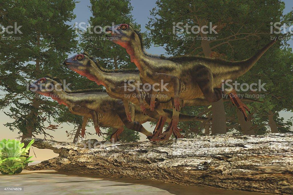 Hypsilophodon Dinosaurs royalty-free stock photo