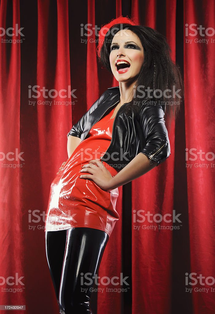 hysteric woman royalty-free stock photo