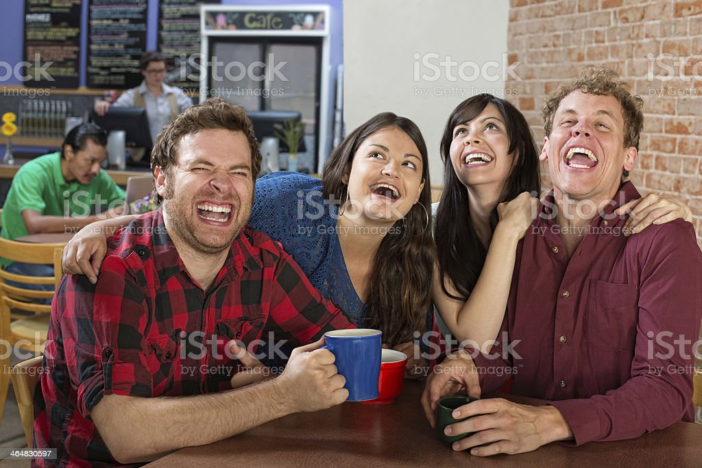 Hysterical Group of People stock photo