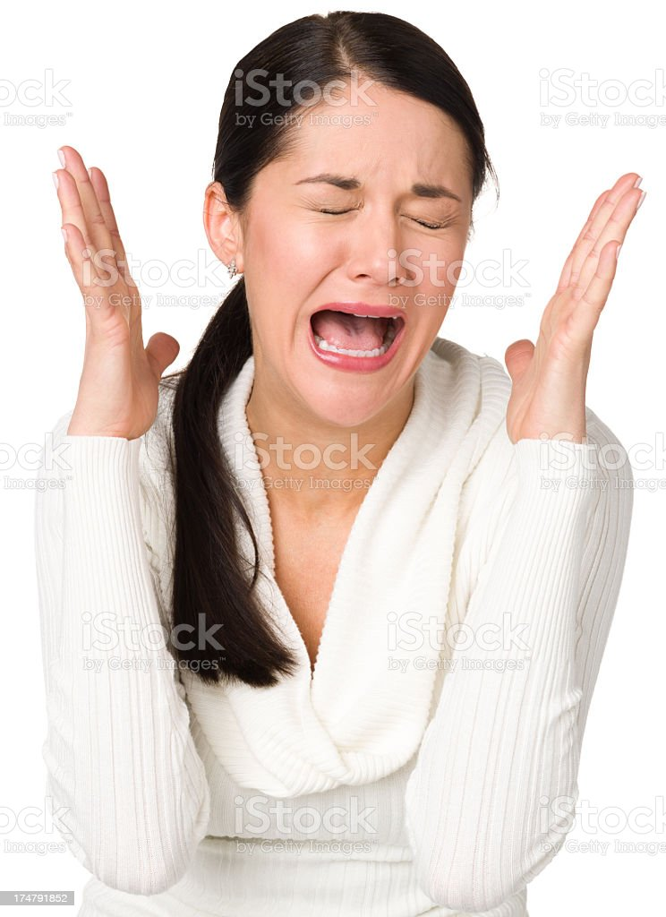 Hysterical Upset Woman royalty-free stock photo