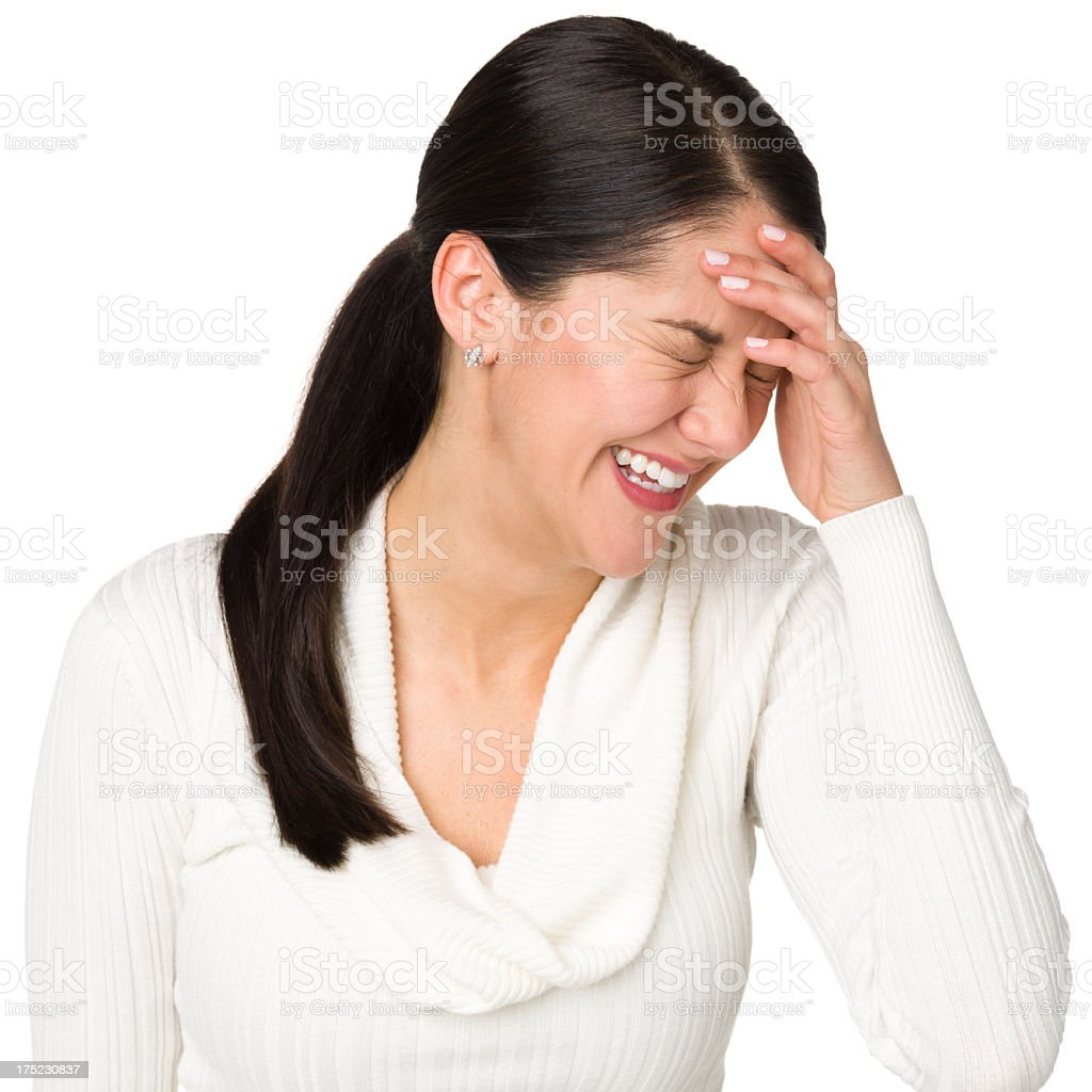 Hysterical Woman Laughing royalty-free stock photo