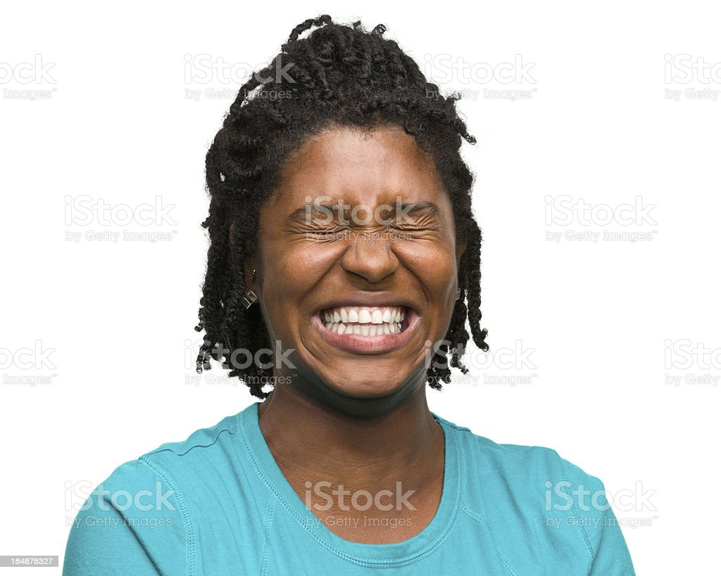 Hysterical Woman royalty-free stock photo