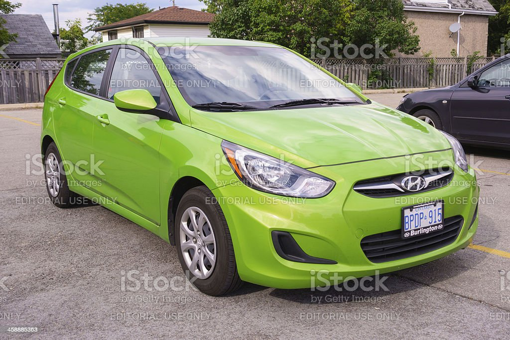 Hyundai Accent Hatchback royalty-free stock photo